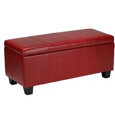Vera Leather Cocktail Ottoman by Cortesi Home
