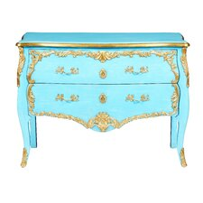 French Cerulean Antique 2 Drawer Chest by Bradburn Home