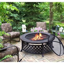 Outsunny Steel Charcoal Fire Pit