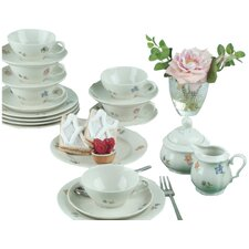 Marieluise Ivory Flower 20 Piece Tea Set