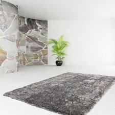 Handgefertigter Innenteppich in in Grau