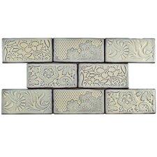 """Antiqua 3"""" x 6"""" Ceramic Subway Tile in Feelings Pergamon"""