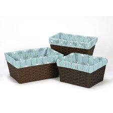 Earth and Sky 3 Piece Basket Liner Set