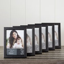 Wayfair Basics Black Desktop Picture Frame Set (Set of 6)