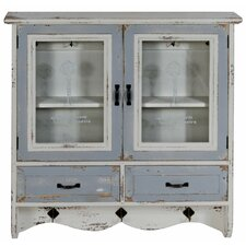 Distressed 2 Door 2 Drawer Kitchen Pantry