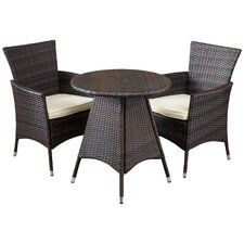 Betria 3 Piece Bistro Set with Cushions