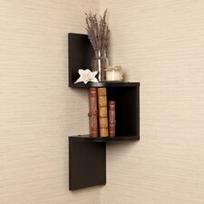 Giedi Corner Wall Shelf in Black by Mercury Row
