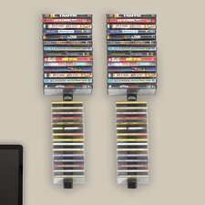 Multimedia Wall Mounted Storage Rack (Set of 4)