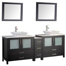 Brodeur 60 Double Sink Bathroom Vanity Set with Mirror by Wade Logan