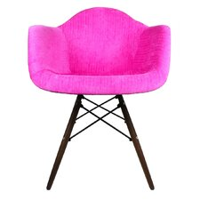 Velvet Fabric Lounge Chair with Wood Legs by eModern Decor