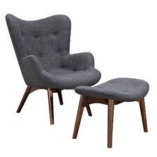 Aiden Lounge Chair and Ottoman by NyeKoncept