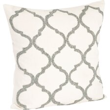Hensen Moroccan Design Beaded 100% Cotton Throw Pillow