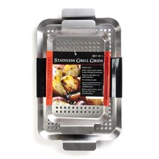 2 Piece Stainless barbecuing Grid Set