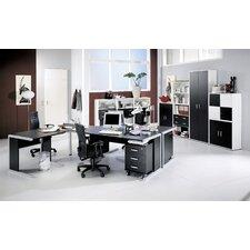 110 cm Aktenregal Black & White
