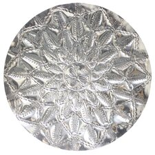 Vilma Etched Metal Tray Wall Decor