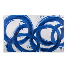 Thoroughly Modern Blue Loops Painting on Canvas