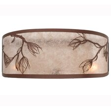 """Lone 20"""" Glass Novelty Wall Sconce Shade"""