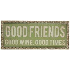 Wanddekoration Good Friends