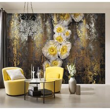 Serafina 2.54m L x 368cm W Floral and Botanical Tile/Panel Wallpaper