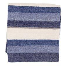 Montego Stripe Chenille Cotton Throw Blanket