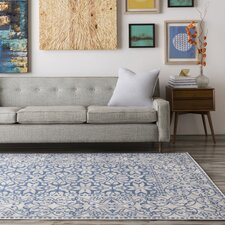 Septfontaines Beige/Navy Area Rug