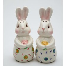 2 Piece Bunnies Forever Salt and Pepper Shaker Set