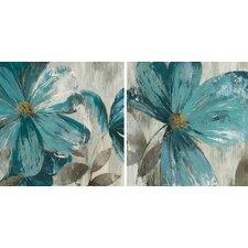 'GiseI' Framed 2 Piece Set on Canvas