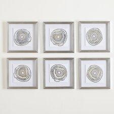 Geodes Framed Prints (Set of 6)