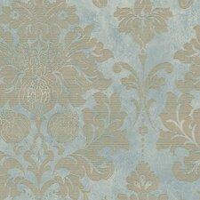 "Silk Impressions 32.7' x 20.5"" In Reg Damask Wallpaper Roll"