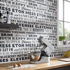Kitchen & Bathroom 10m L x 64cm W Abstract 3D Embossed Roll Wallpaper