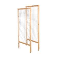 2 Piece Critter Guard Garden Wood Lattice Panel Trellis Set (Set of 2)