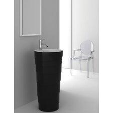Rockview Black Pedestal by Fine Fixtures
