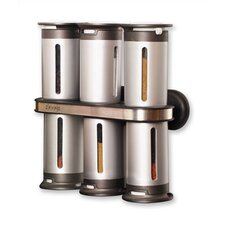 Zero Gravity 6 Jar Spice Jar & Rack Set