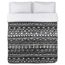 Tribal Stripes Fleece Duvet Cover