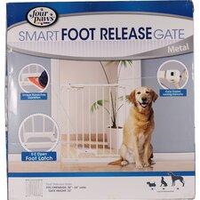 Foot Release Metal Dog Gate