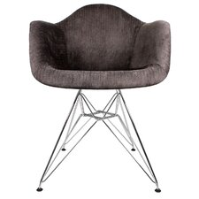 Velvet Fabric Lounge Chair by eModern Decor