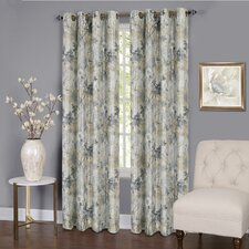 Genevrier Lined Nature/Floral Blackout Thermal Single Curtain Panel