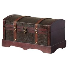 McDonald Leather Wooden Chest