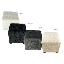 Merton Atlas Upholstered Cube Ottoman by MJL Furniture