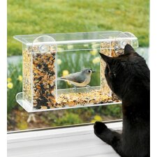 Window-Mount See-Through Tray Bird Feeder