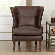 Solomon Leather Wingback Chair