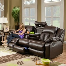 Simmons Upholstery Houle Leather Double Motion Reclining Sofa