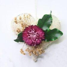 Love Hearts 7cm Straw Flower Wreath (Set of 3)