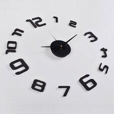 3D Frameless Wall Clock in Black