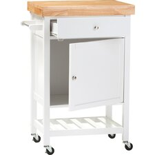 Baxton Studio Kitchen Cart with Wood Top