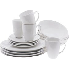 White Basics Coupe 16 Piece Dinnerware Set, Service for 4