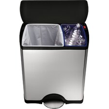 46-Litre Rectangular Recycler with Removable Inner Buckets