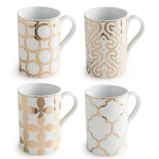 Luxe Moderne 11 oz. Mug Set (Set of 4)