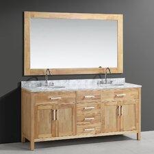 Halcomb 72 Double Bathroom Vanity Set with Mirror by Red Barrel Studio
