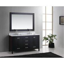 Halcomb 60.75 Double Bathroom Vanity Set with Mirror by Red Barrel Studio